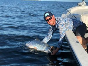 Tarpon caught by man in Sarasota